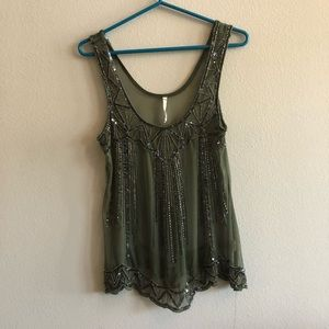 Willow and Clay beaded tank